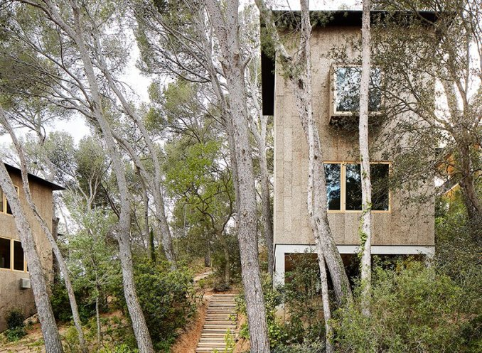 in catalonia, lópez rivera arquitectos presents two houses clad in .