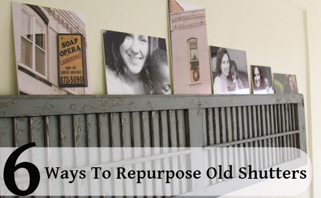6 Unique Ways To Repurpose Old Shutters | DIY Home Thin