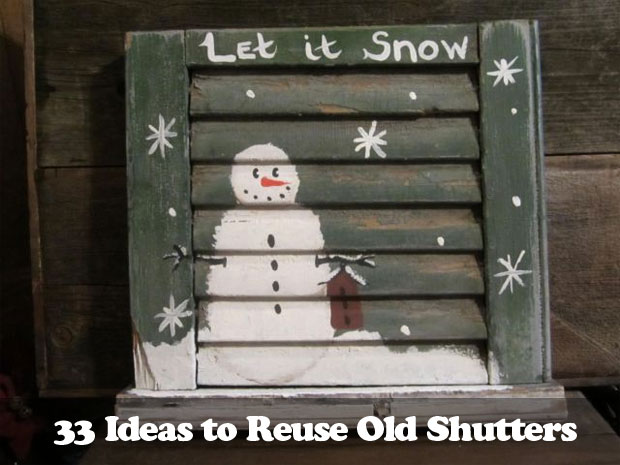 34 DIY Ideas to Reuse Your Old Shutters - Snappy Pixe