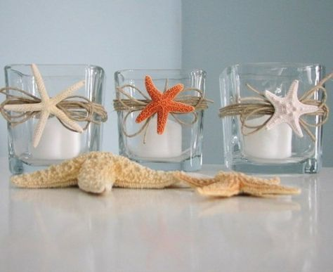 How To Decorate With Sea Stars: 34 Examples | Shell candles, Beach .