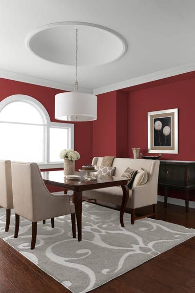 Color of the Year, 2015: Marsala   Red dining room, Dining room .