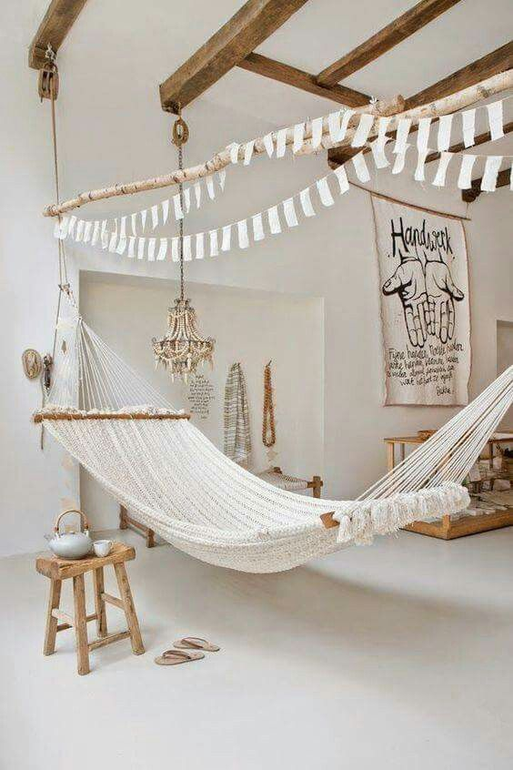 Rock the hammock | Country style living room, Rustic living room .