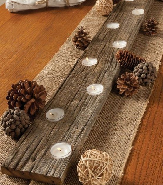 How To Rock Burlap In Home Decor Ideas   Rustic votive candle .