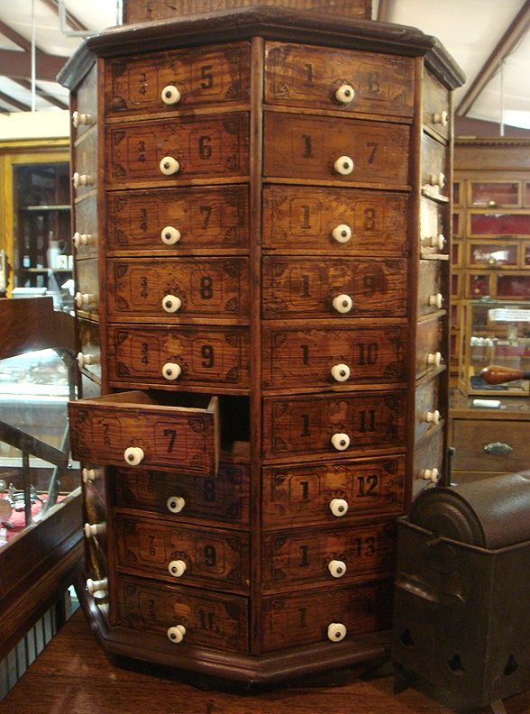 72-drawer antique hardware cabinet...not apothecary but previously .