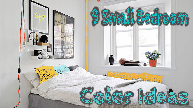 9 Small Bedroom Color Ideas - 35 photos + accent wall paint .