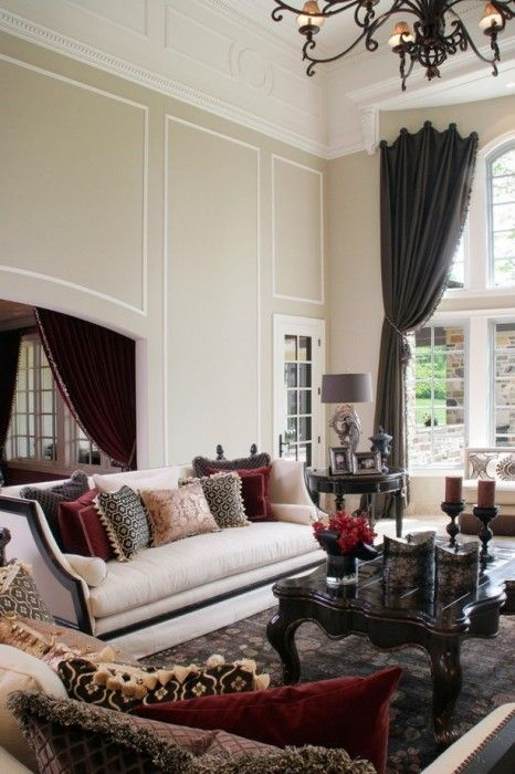 26 Ideas To Accentuate Your Living Room With Marsala   White .