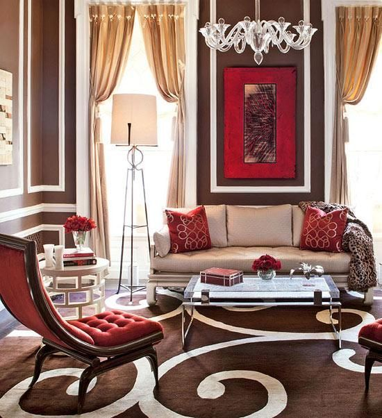26 Ideas To Accentuate Your Living Room With Marsala - DigsDigs .