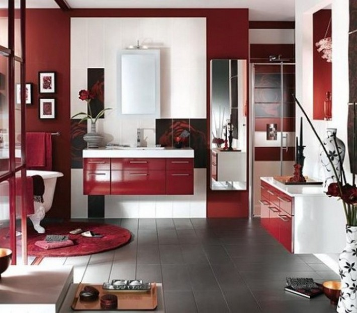 Ideas to use Marsala on your bathroom decor   Inspiration and .