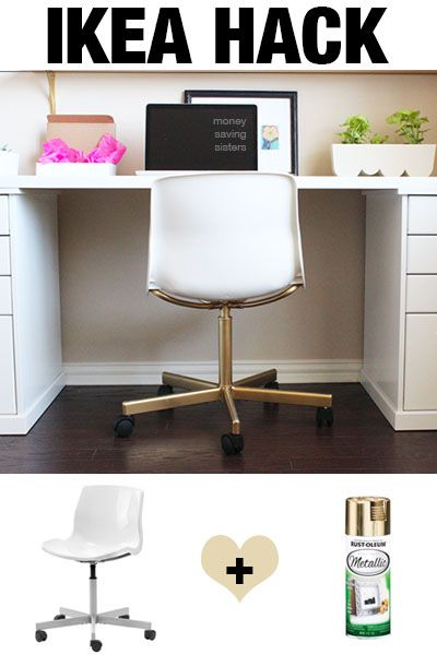 IKEA Hack: Make the $20 SNILLE Chair Look Like an Expensive Office .