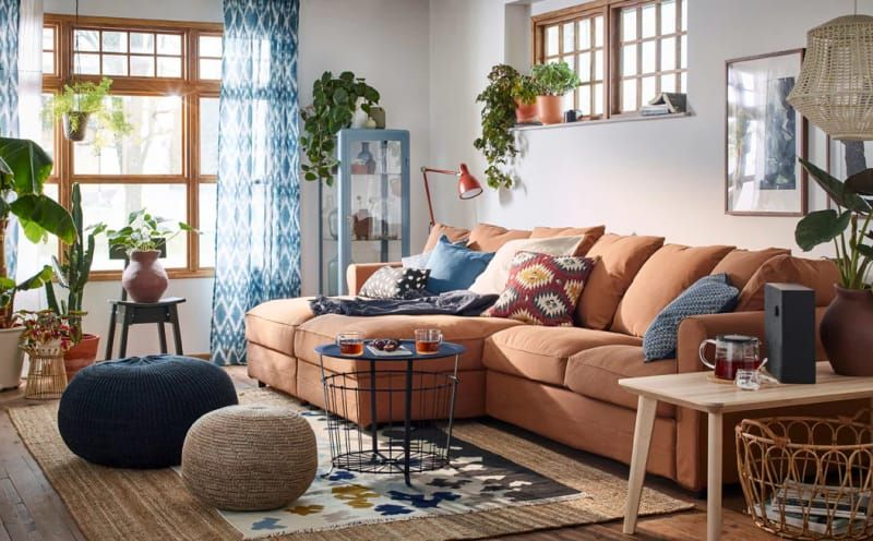 10 Colorful Living Room Ideas to Steal From IKEA | Ikea living .