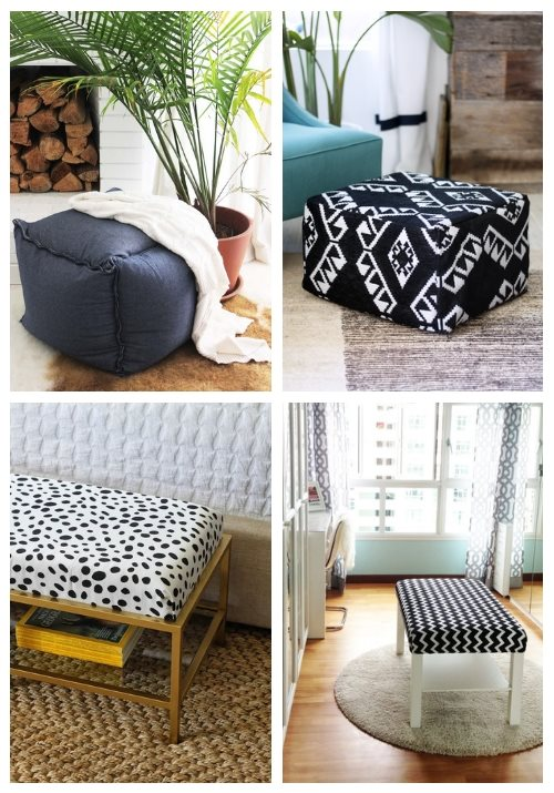 15 IKEA Ottoman And Pouf Hacks To Try | ComfyDwelling.c