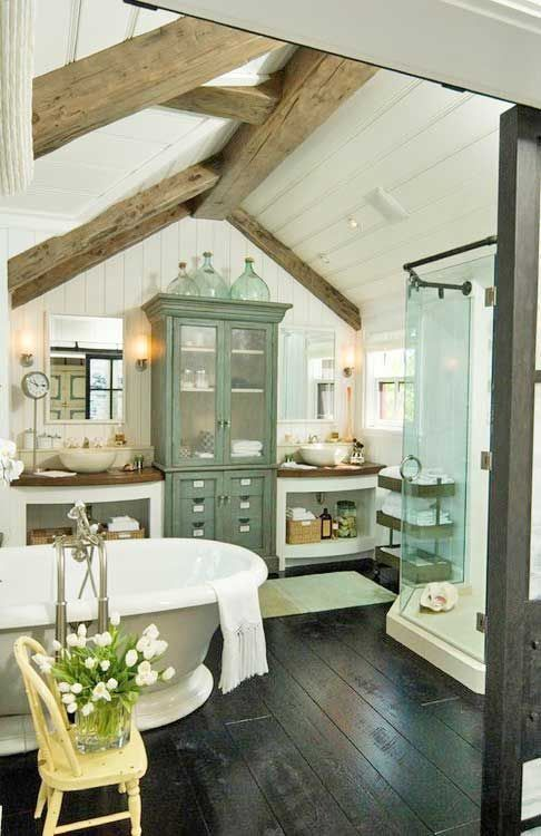 50 Bathrooms With Exposed Wooden Beams - DigsDi