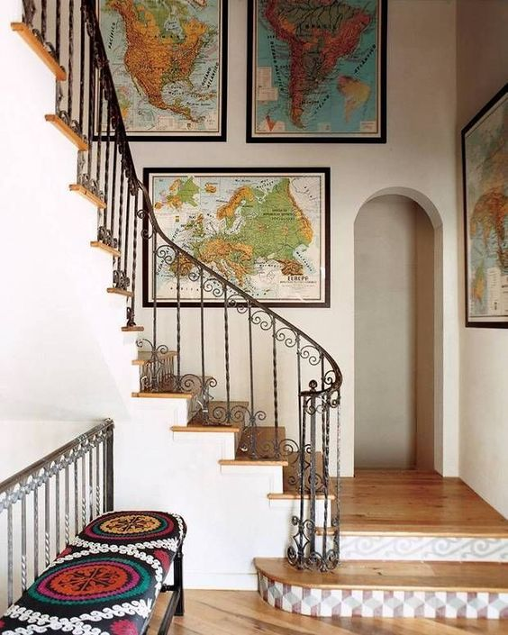 25 Ways To Incorporate Maps Into Home Decor in 2020 | Decor .