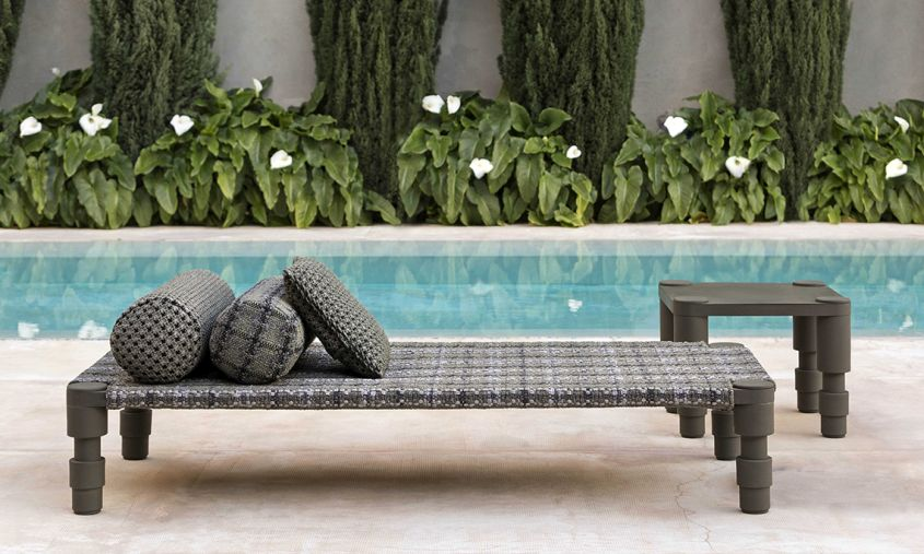 Indian Handloom-Inspired Outdoor Furniture by Patricia Urquiola at .