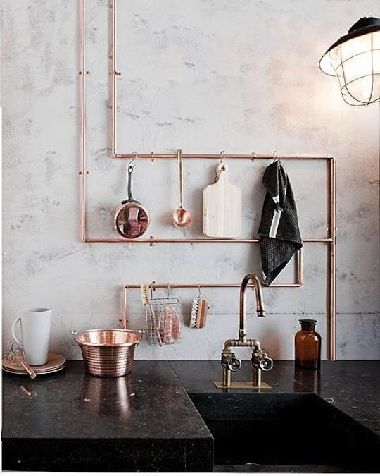 Industrial Eye-Candy: 40 Pipes Home Decor Ideas - DigsDi