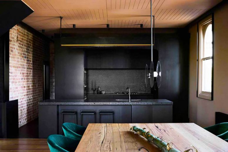 Modern Industrial Home With A Moody Color Palette - DigsDi