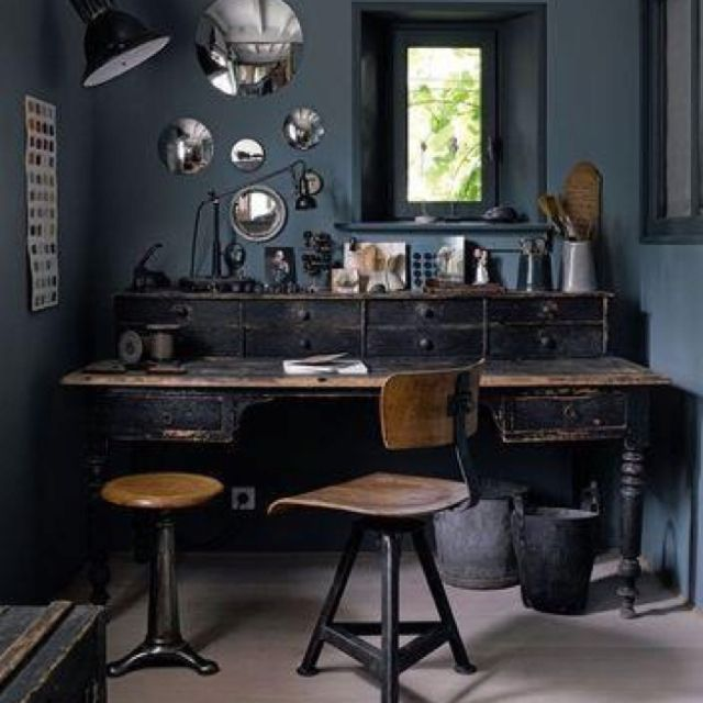 26 Industrial Home Offices That Blow Your Mind   Home office .