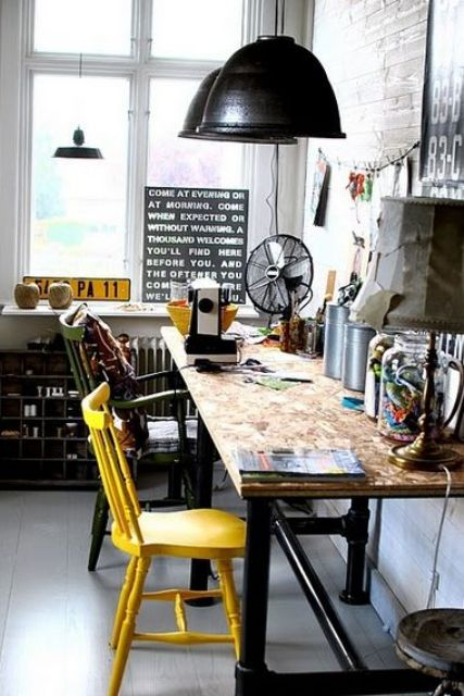 26 Industrial Home Offices That Blow Your Mind - DigsDi
