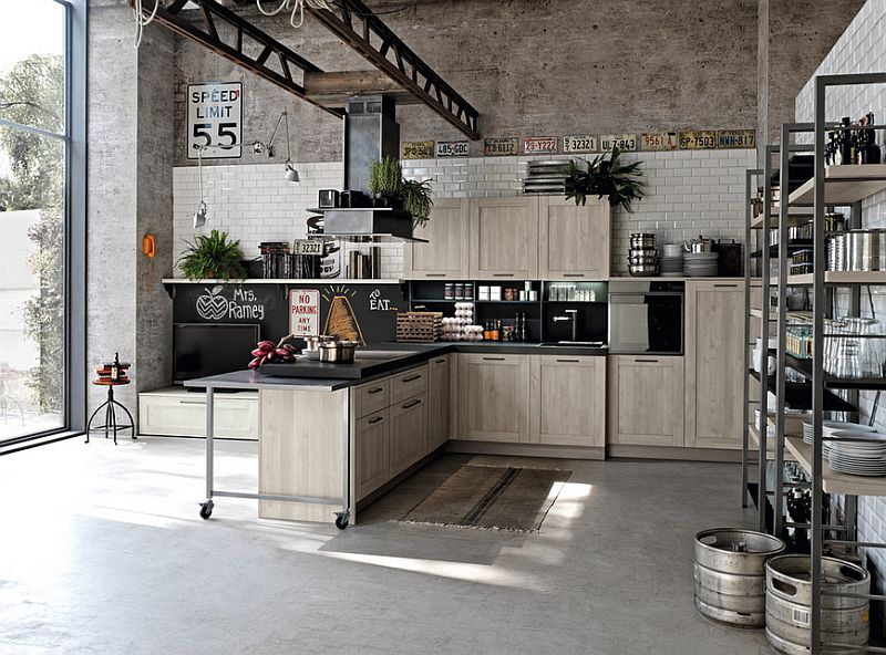 100 Awesome Industrial Kitchen Ide