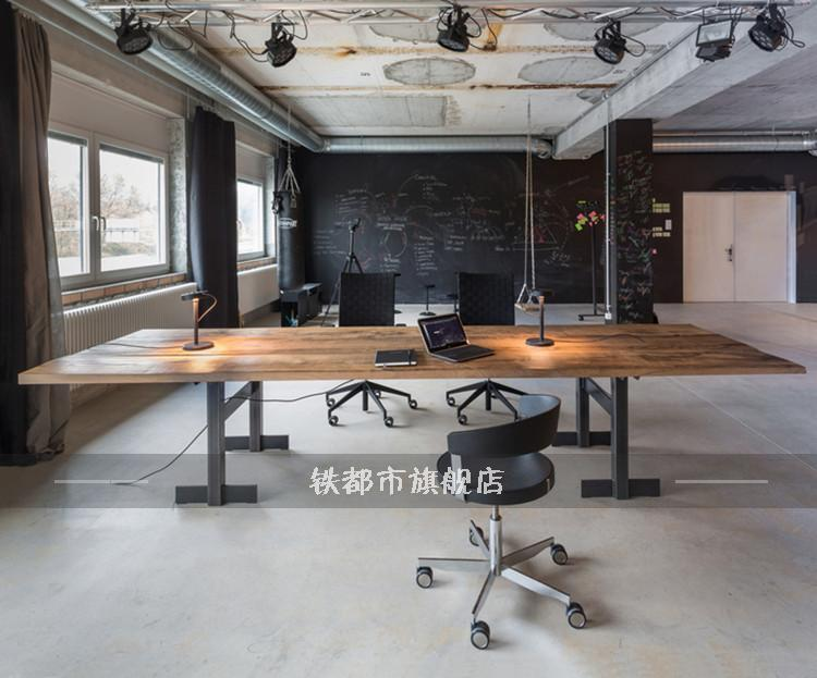 Buy American wood table large conference table long table .