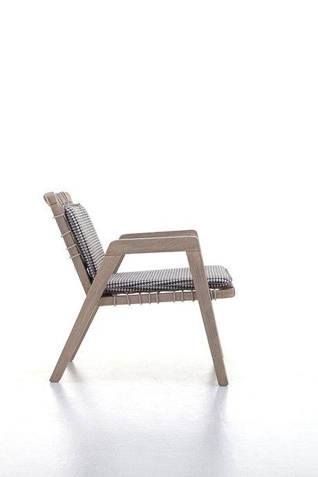 Teak easy chair with armrests INOUT 861 By Gervasoni design Paola .
