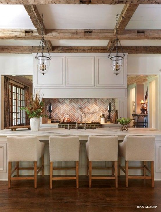 Inviting Kitchen Designs With Exposed Wooden Beams | Kitchen .