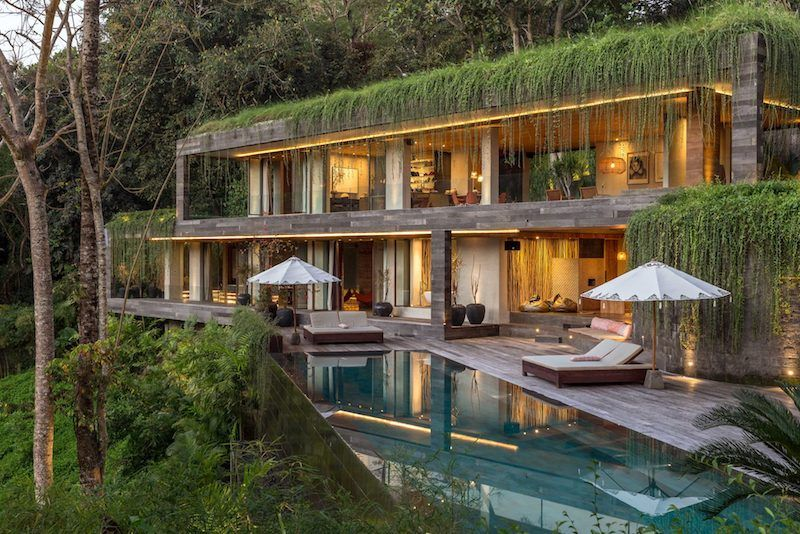 The Chameleon Villa: Greenery Spills Over the Roof of this Modern .