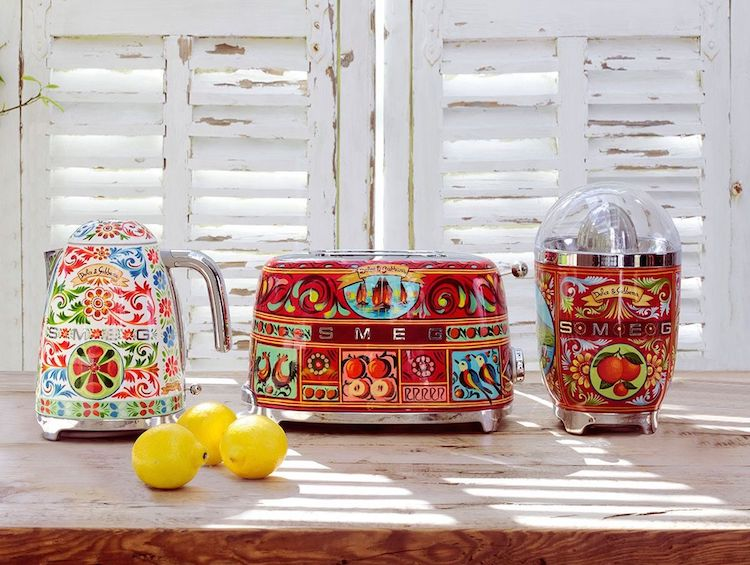 Smeg Appliances Collaborates with Dolce & Gabbana on Colorful Kitche