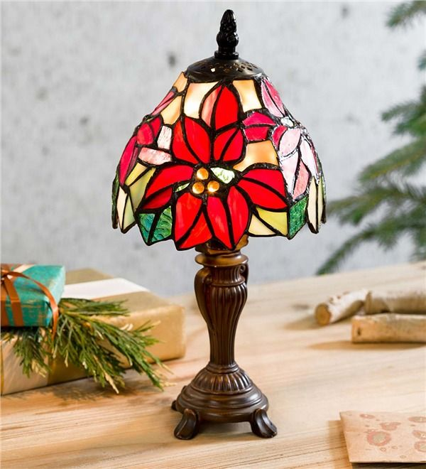 Small Poinsettia Lamp   Full of all the colors of the season, this .