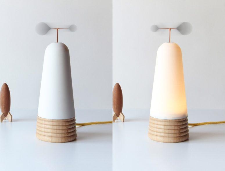 Interactive Vole Lamp Inspired By The Wind - DigsDi