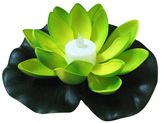 Amazon.com: LED Lotus Flower Light Floating Fountain Pond Water .