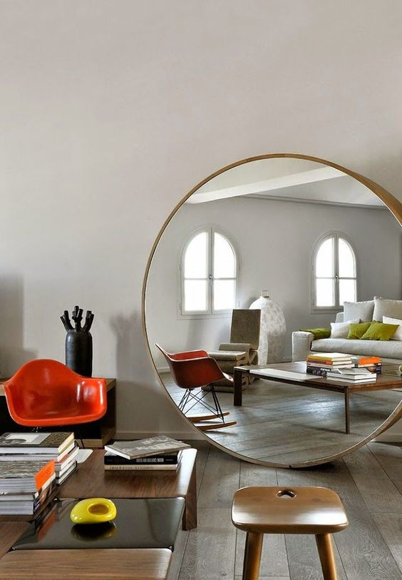 Extra Large Round Mirror - Best Way to Enlarge Your Home Space .