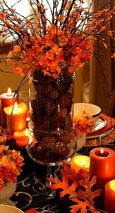 100+ Best Fall table centerpieces images   fall table, fall table .