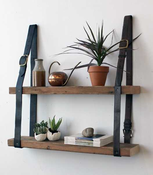 12 Fabulous Design Ideas Recycling Leather Belts for Home Decorati