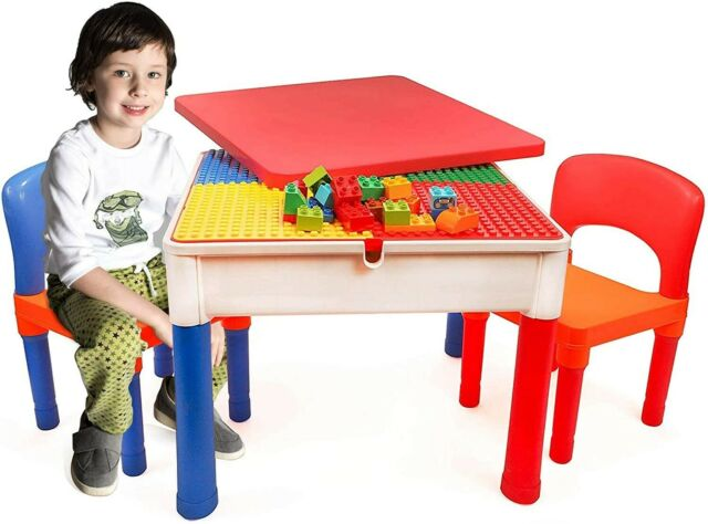 Smart Builder Toys Kids 2 in 1 Duplo and Lego Compatible Table .