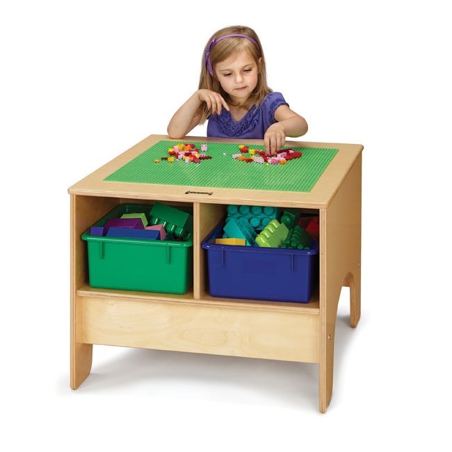 Jonti-Craft Building Table With Lego Compatible Top- Colored .