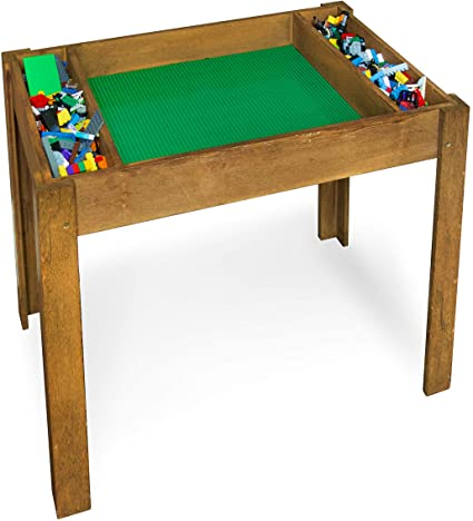 Amazon.com: Brick Nation Lego Compatible Table with Storage for .