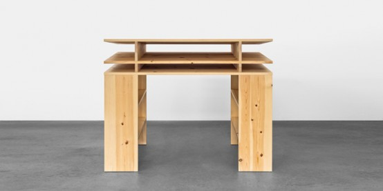 Standing Writing Desk With Lots Of Storage Space - DigsDi