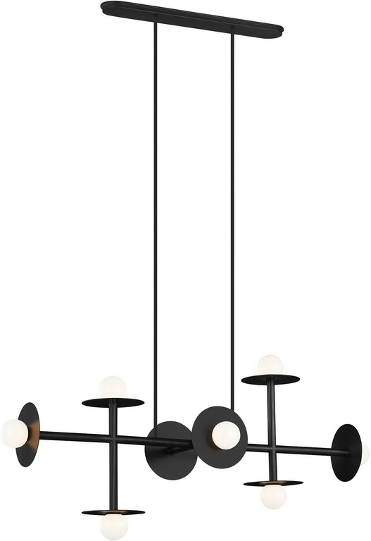 Murray Feiss Lamps and Lighting 8 - Light Linear Chandelier .