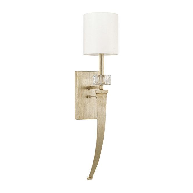 Soft Curves Crystal Sconce   Crystal sconce, Gold wall sconce, Sconc