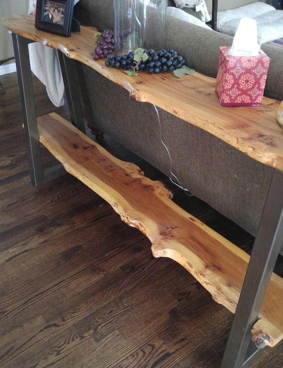 24 Chic Live Edge Wood Furniture Objects To Try - Shelterne
