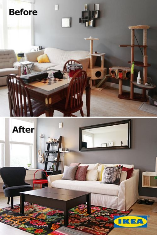 Create a living room that meets all of your needs. Simple changes .