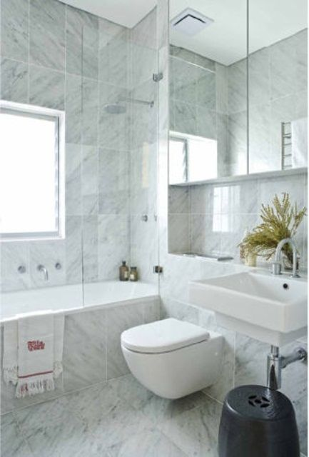 74 Luxurious Marble Bathroom Designs (With images) | Marble .