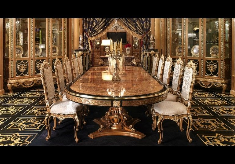 Luxury dining furniture. Exquisite Boulle marquetry work. | Luxury .