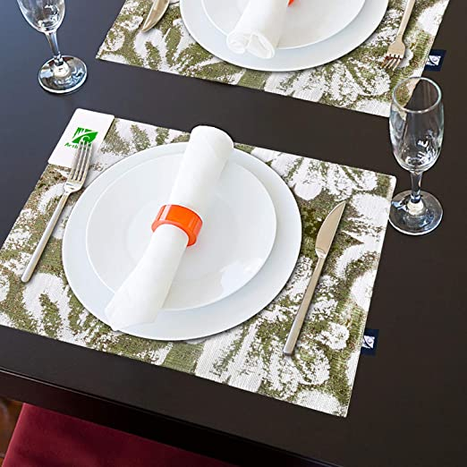 Amazon.com: Artbisons Green Place Mats Sets of 4 for Kitchen .