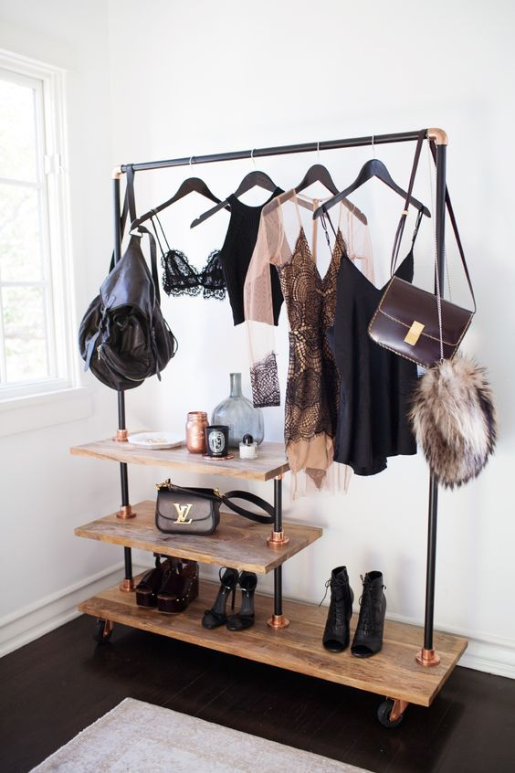 Clothing racks are ideals for small apartments or rooms with .