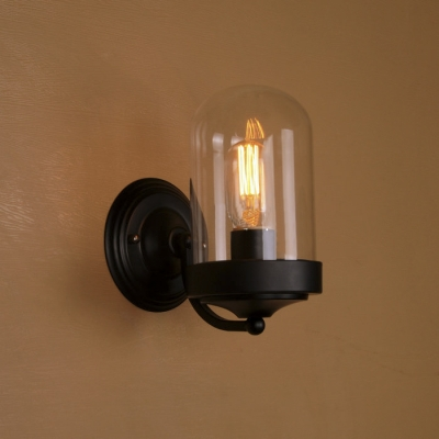 Industrial Minimalism Style Practical Wall Sconce in Black .