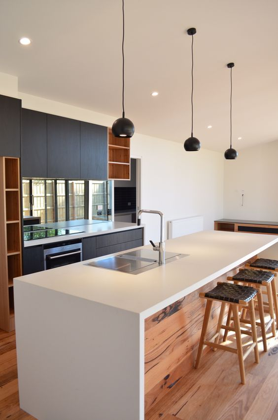 30 Kitchen Islands With Seating And Dining Areas   Modern kitchen .