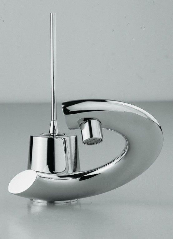 Modern Bathroom Faucets With Curved Levers   Modern bathroom .