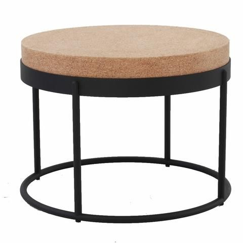 Modern Cork Side Table (With images)   Modern table, Table, Side tab